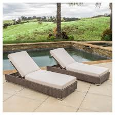 Wicker Chaise Lounge Barcelona Set Of 2 Wicker Chaise Lounge Set With Sunbrella