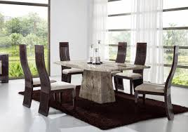 Beautiful Marble Dining Room Tables And Chairs Contemporary Room - Marble dining room furniture