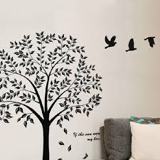tree of life wall decal gardens and landscapings decoration black tree with flying birds wall decals tree of life wall sticker black tree with flying birds wall decals tree of life wall sticker diy vinyl art