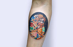 a korean twist on iconic fine art pitta kkm tattoos scene360