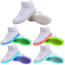 high top light up shoes unisex led shoes 8 colors led luminous shoes high top light up led