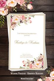 wedding program designs wedding program templates diy printable order of service wedding