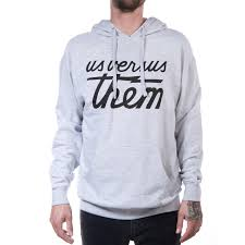 versus them magnum hoodie grey heather