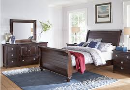 grove espresso 5 pc king sleigh bedroom traditional