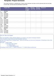 project management schedule template download free u0026 premium