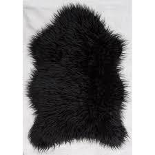 Black Circle Rug Kitchen Rug As Large Area Rug And Inspiration Black Faux Fur Rug