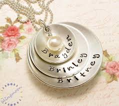 s necklace with names personalized jewelry three discs three names strength