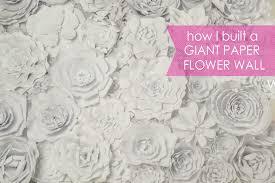 diy paper flower wall posh tart