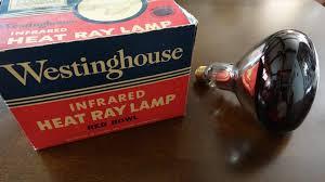 old westinghouse 250watt heat ray heat lamp red light bulb youtube