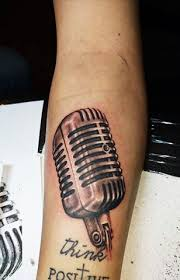 microphone tattoo thumb old school microphone tattoo by sedance on deviantart