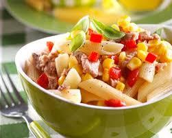 cuisine az com recette salade de pâtes aux oeufs durs et au thon facile rapide