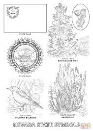 nevada state symbols coloring page free printable coloring pages