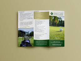 tri fold program charity golf trifold program joseph conti