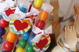 Gumball Party Favors Rainbow Party Hannah Is 10 Chickabug