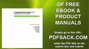 gilles and brassard fundamentals of algorithmics solution manual