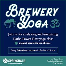 brewery yoga u2013 starting march 11th springdale by jack u0027s abby