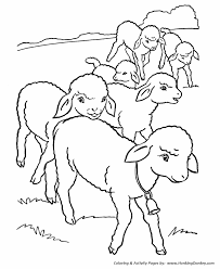 farm animals coloring page farm animal coloring pages printable flock of lambs coloring