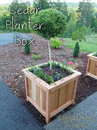How To Make Planter Boxes by Pretty Front Porch Diy Large Cedar Planter Boxes Engineering A Home