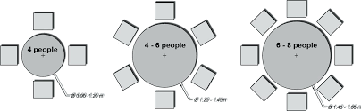 8 person round table size 6 person round table coles thecolossus co