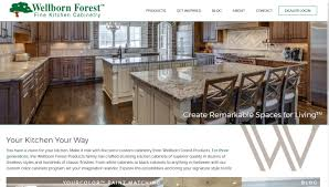 semi custom cabinetry focus for wellborn forest website relaunch