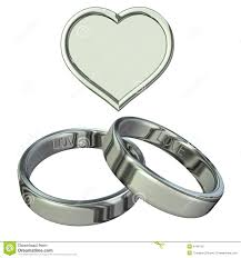 Heart Wedding Rings by Wedding Rings With Heart Stock Photo Image 4148710