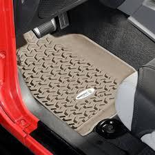 tread lightly jeep wrangler discount rugged ridge tl 13920 01 front floor liners tan tread lightly jeep