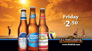 michelob ultra vs bud light 2 50 bud light budweiser and michelob ultra every friday at