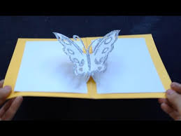 easy butterfly kirigami pop up card diy birthday day gift craft