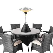 electric tabletop patio heater firefly 2 1kw table top electric infrared halogen bulb garden