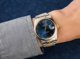 rolex print ads rolex 16233 blue dial
