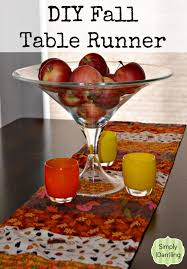make your own table runner diy fall table runner simply darr ling