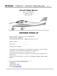 tecnam p2002 jf flight manual turbine engine failure