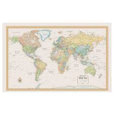 Large World Map Rand Mcnally Classic Edition Wall Map World 50 X 32 By Office