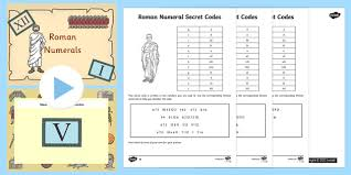 roman numerals task setter powerpoint and worksheets roman