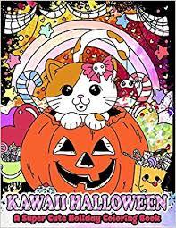 kawaii halloween super cute holiday coloring book kawaii