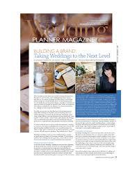 wedding planner magazine efd creative published in wedding planner magazine building a