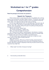 reading comprehension 6th grade printable laurenjohnson