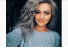 hairstyles for young women with gray hair image granny hair grey gray dyeing dying trend young women girls
