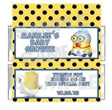 minions baby shower baby shower minions party favors bag fillers ebay
