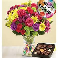 flowers and chocolate 1 800 flowers it s your day bouquet happy birthday chocolate