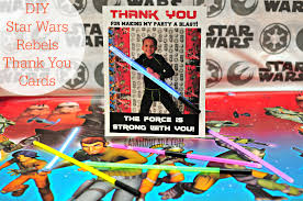 wars thank you cards diy wars rebels thank you cards