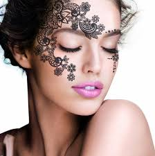 henna makeup aliexpress buy 2pcs lot henna eye sticker silver