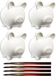Keepsake Piggy Bank After Special Gentle Owl And Sable Paintbrush Set Of 4
