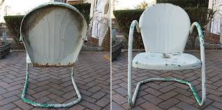 buttermilk cottage chair set of 2 industrial metal vintage new