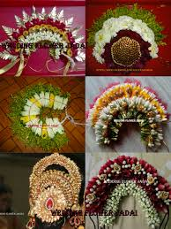 flower decoration for hair wedding flower jadai jadai veni collections