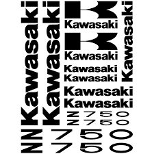 logo kawasaki wallstickers folies kawasaki z 750 decal stickers kit