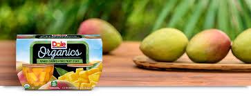 dole fruit bowls organic mango chunks fruit bowls dole