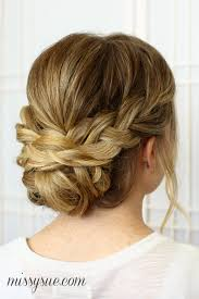 soft updo hairstyles braided updo