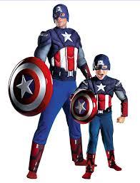 Cool Halloween Costumes Dad Son Dress Iron Spiderman