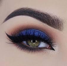 royal blue smokey eye we this moncheribridals more